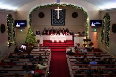 Christmas Church Service royalty free stock image