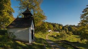 Kaliste, vroeger dorp in het district van Banskà ¡ Bystrica in de Slowaakse Republiek stock afbeeldingen
