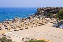 Kalithea beach, Rhodes island, Greece Royalty Free Stock Photos