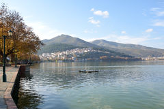 Kalithea, a district of Kastoria, Greece Stock Image