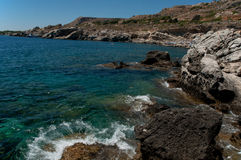 Kalithea rhodes. Seashore kalithea popular holiday destination/rhodes/greece stock photo