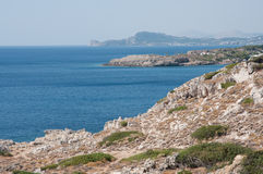 Kalithea seashore. Seashore kalithea popular holiday destination/rhodes/greece stock image