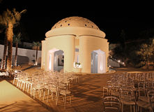 Kalithea spa resort by night. Rhodes Royalty Free Stock Image