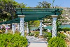 Kalithea Spa Rhodes Greece. Path to the beach at Kalithea Springs, Rhodes Island Greece Europe Royalty Free Stock Image