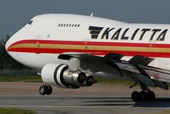 Kalitta 747. Image can be used todepict different articles regarding this company Stock Images