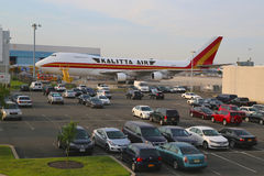Kalitta Air Boeing 747 à l'aéroport de JFK à New York Photographie stock