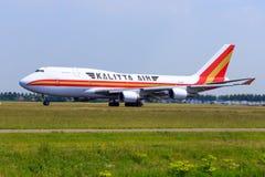 Kalitta Air Boeing 747 Fotografering för Bildbyråer