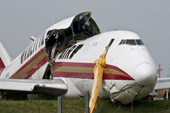 Kalitta air went wrong. American Boeing 747 crashes on Brussels International Airport Stock Photography