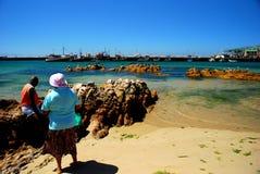 Kalk Bay Folk. Cape Town Fishing folk in Kalk Kay harbour Stock Photo