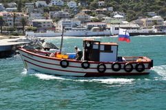 Kalk Bay Harbor Cape Town, South Africa. Kalk Bay Harbor on the Eastern side of the Cape peninsula is a small commercial fishing harbor from where trawlers Stock Photography