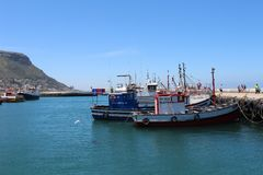 Kalk Bay Harbour in Cape Town Royalty Free Stock Photo