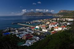 Kalk Bay harbour seen from Boys Drive Royalty Free Stock Photo