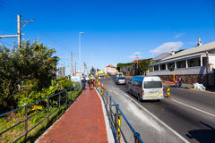 Kalk Bay town and streets. Stock Photo