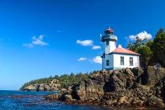 Kalk-Brennofen-Punkt-Leuchtturm, San Juan Islands, Washington State lizenzfreie stockfotos