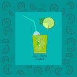 Kalk-Cocktailparty Cocktailmenü Lizenzfreies Stockbild