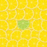 Kalk & de Oranje Achtergrond van de Plak van het Fruit Stock Afbeeldingen