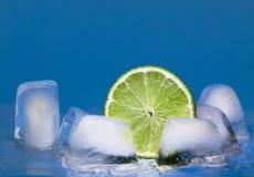 Kalk en ijsblokjes Stock Foto