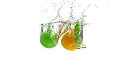 Kalk en Nectarine royalty-vrije stock foto's