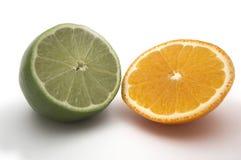 Kalk en sinaasappel stock afbeelding