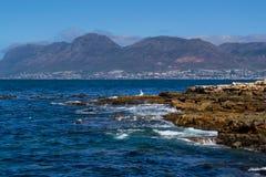 Kalk fjärd till Simons Town Cape Town South Afrika Arkivbilder
