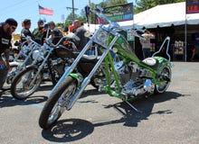 Kalk Groene Harley Stock Fotografie