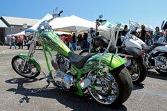 Kalk Groene Harley 2 Royalty-vrije Stock Foto's