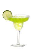 Kalk Margarita met een plak van kalk Stock Foto