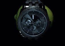 Kalk mit einer Uhr stockbild