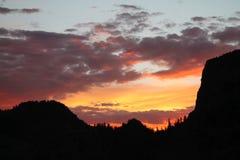 Kalk-Nebenfluss Colorado bei Sonnenuntergang stockbild