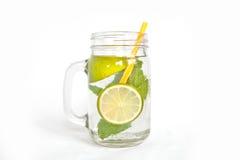 Kalk-tadellose Limonade lokalisiert Lizenzfreie Stockfotografie