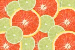 Kalk und orange Scheiben Lizenzfreies Stockbild