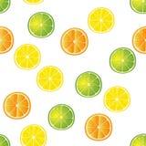 Kalk, Zitrone und orange Scheibenmuster Lizenzfreie Stockfotos