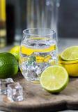 Kalka manuell press för förberedelse av coctailar, limefrukter och exponeringsglas Royaltyfria Foton