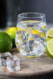 Kalka manuell press för förberedelse av coctailar, limefrukter och exponeringsglas Arkivfoton