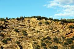 Kalkafzettingsgesteente, Sicilië Royalty-vrije Stock Afbeelding