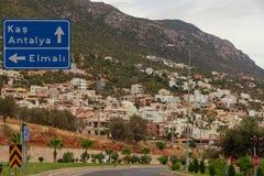 Kalkan, die Türkei Stockfotos