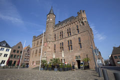 kalkar germany historic townhall and blue sky Stock Image