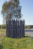 Kalkar palissaden på Vielbrunn Fotografering för Bildbyråer