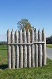 Kalkar palissaden på Vielbrunn Arkivbilder