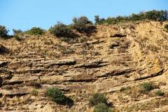 Kalkartad sedimentär sten, Sicilien Royaltyfri Bild