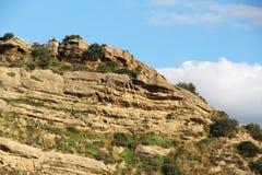 Kalkartad sedimentär sten, Sicilien Royaltyfria Bilder