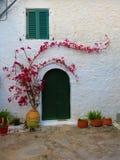 Kalkat grekiskt hus Fotografering för Bildbyråer