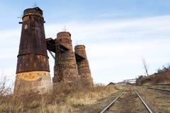 Kalkbrennöfen in Kladno, Tschechische Republik, nationales Kulturdenkmal lizenzfreies stockbild