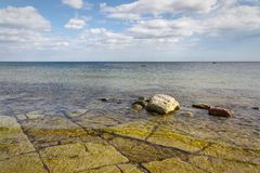 Kalkenshällar Öland costal view Royalty Free Stock Image