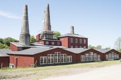 Kalkfabriek Stock Foto