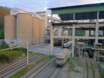 Kalkfabrik Stockfotos