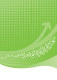 Kalkgrünhintergrund mit Halbtonbild Stockfotos