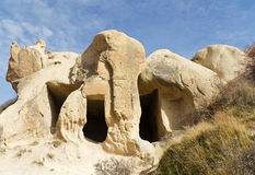 kalkon för cappadociahusrock Arkivfoton