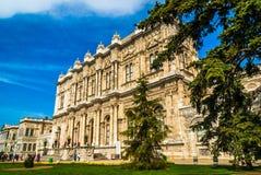 kalkon för dolmabahceistanbul slott Arkivbild