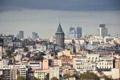 kalkon för galataistanbul torn Royaltyfria Foton